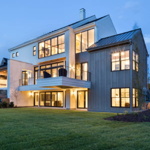 exterior of modern home from local materials