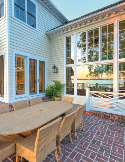 custom windows overlooking outdoor patio