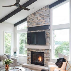 casement window in living room
