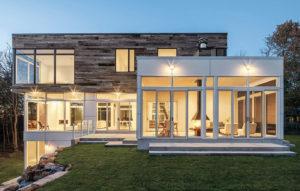 exterior of modern home