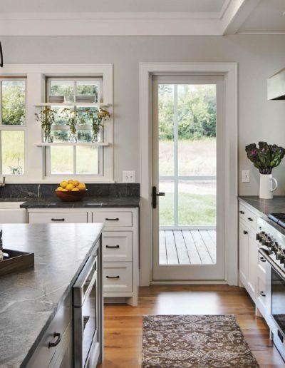 white kitchen door