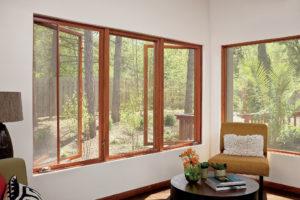 wooden frameless window